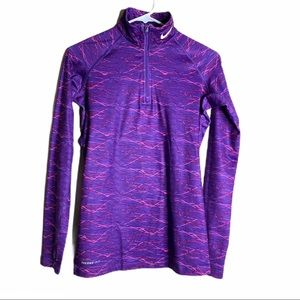 NIKE PRO Top Combat Therma-Fit Purple Pink small